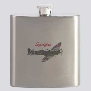 SPITFIRE PLANE Flask