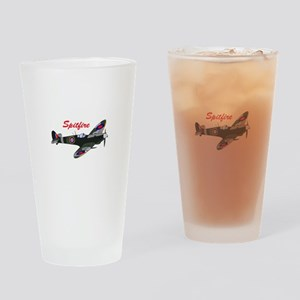 SPITFIRE PLANE Drinking Glass