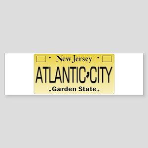 Atlantic City NJ Tag Giftware Bumper Sticker