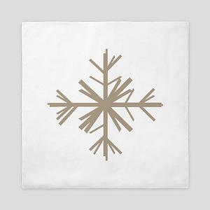 Christmas Woodland Winter Snowflake Queen Duvet