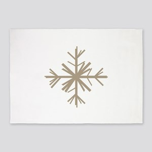 Christmas Woodland Winter Snowflake 5'x7'Area Rug