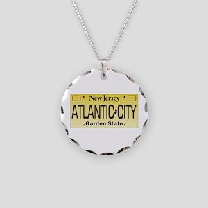Atlantic City NJ Tag Giftwar Necklace Circle Charm
