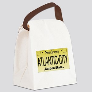 Atlantic City NJ Tag Giftware Canvas Lunch Bag