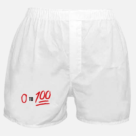 0 to 100 Boxer Shorts