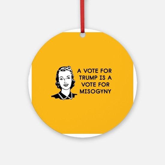 Trump Misogyny Round Ornament