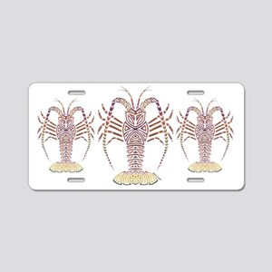 Tribal Caribbean Lobster Aluminum License Plate