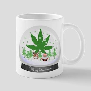 Merry Christmas Marijuana Snow Globe Mug