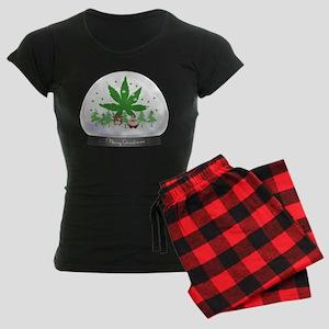 Merry Christmas Marijuana Sn Women's Dark Pajamas