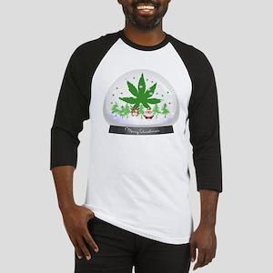 Merry Christmas Marijuana Snow Glo Baseball Jersey