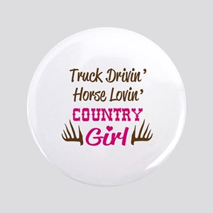 TRUCK DRIVING COUNTRY GIRL Button