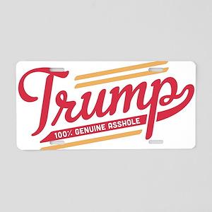 Trump Genuine Asshole Aluminum License Plate