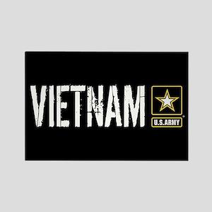 U.S. Army: Vietnam (Black) Rectangle Magnet