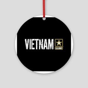 U.S. Army: Vietnam (Black) Round Ornament