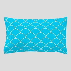 Aqua Blue Scallop Pattern Pillow Case