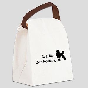 Love Poodles Black Canvas Lunch Bag