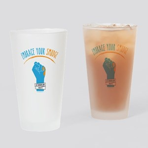 Smudge Blue Drinking Glass