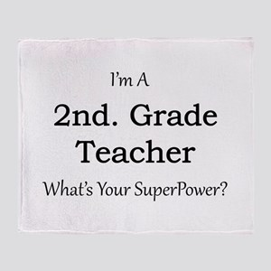 2nd. Grade Teacher Throw Blanket
