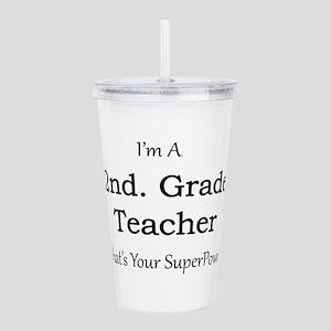 2nd. Grade Teacher Acrylic Double-wall Tumbler