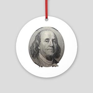 Benjamin Franklin Round Ornament