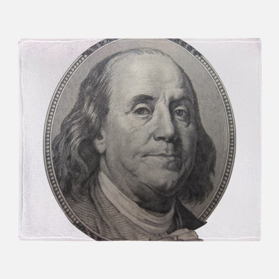 Benjamin Franklin Throw Blanket