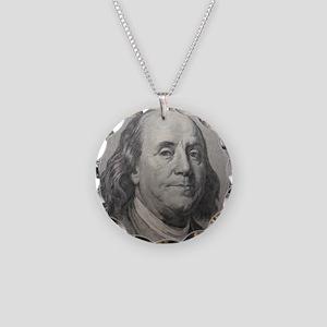 Benjamin Franklin Necklace Circle Charm
