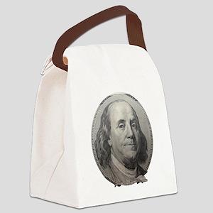 Benjamin Franklin Canvas Lunch Bag
