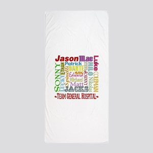General Hospital Men Beach Towel