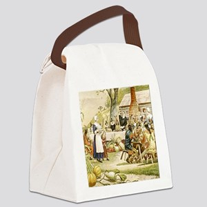 First Thanksgiving Canvas Lunch Bag