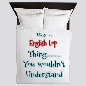 English Lop Thing Queen Duvet
