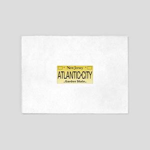 Atlantic City NJ Tag Giftware 5'x7'Area Rug