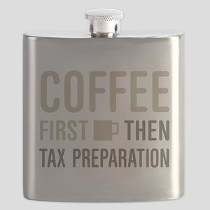 Coffee Then Tax Preparation Flask