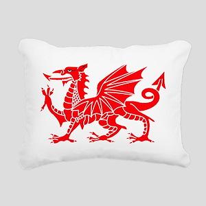 Welsh Dragon Y Ddraig Go Rectangular Canvas Pillow