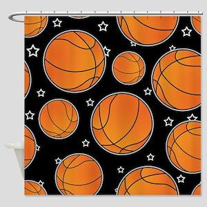 Basketball Star Pattern Shower Curtain
