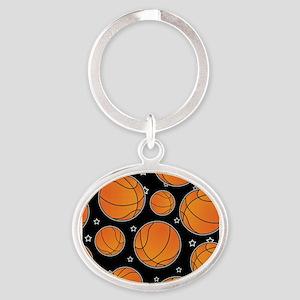Basketball Star Pattern Keychains