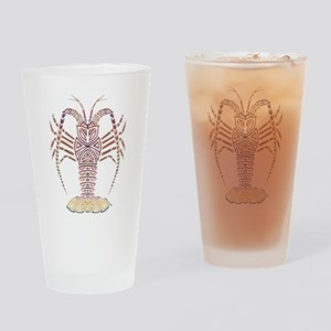 Tribal Caribbean Lobster Drinking Glass