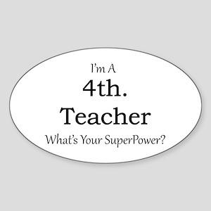 4th. Grade Teacher Sticker