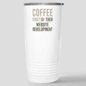 Website Development Stainless Steel Travel Mug