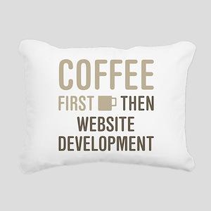 Website Development Rectangular Canvas Pillow