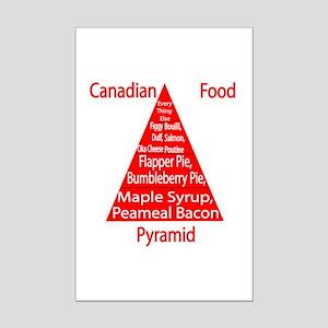 Canadian Food Pyramid Mini Poster Print