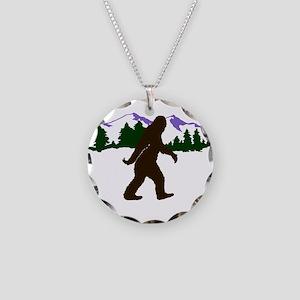 Squatch 'Em Necklace Circle Charm