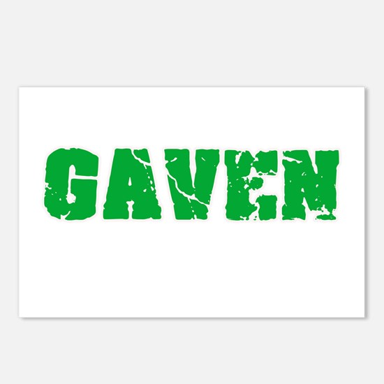 Gaven Name Weathered Gree Postcards (Package of 8)