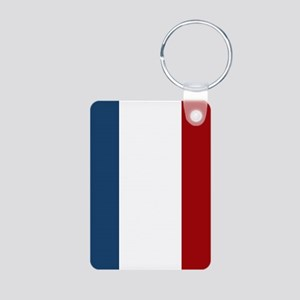 French Flag Aluminum Photo Keychain
