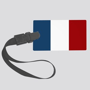 French Flag Large Luggage Tag