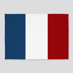 French Flag 5'x7'Area Rug