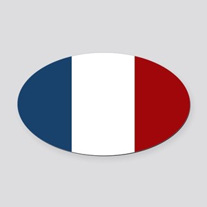 French Flag Oval Car Magnet