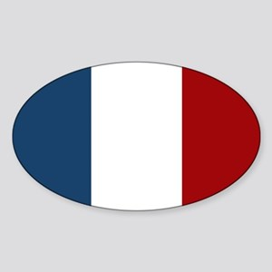 French Flag Sticker (Oval)