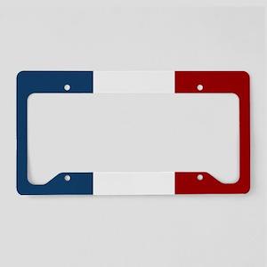 French Flag License Plate Holder