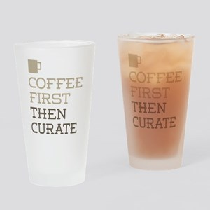 Coffee Then Curate Drinking Glass