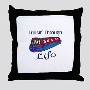 CRUISIN THROUGH LIFE Throw Pillow