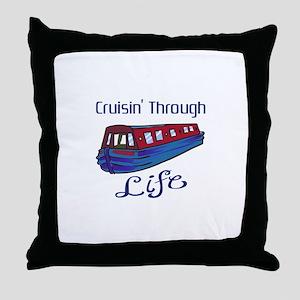 CRUISIN THROUGH LIFE Throw Pillow